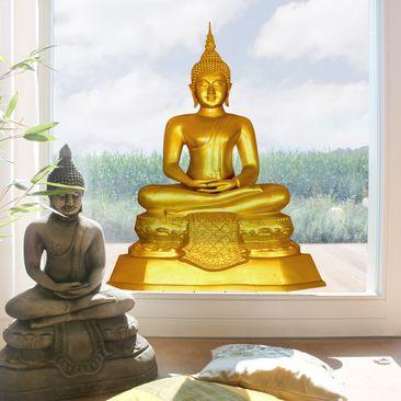 Produktfoto Fensterfolie - Fenstersticker - Zen Buddha Gold