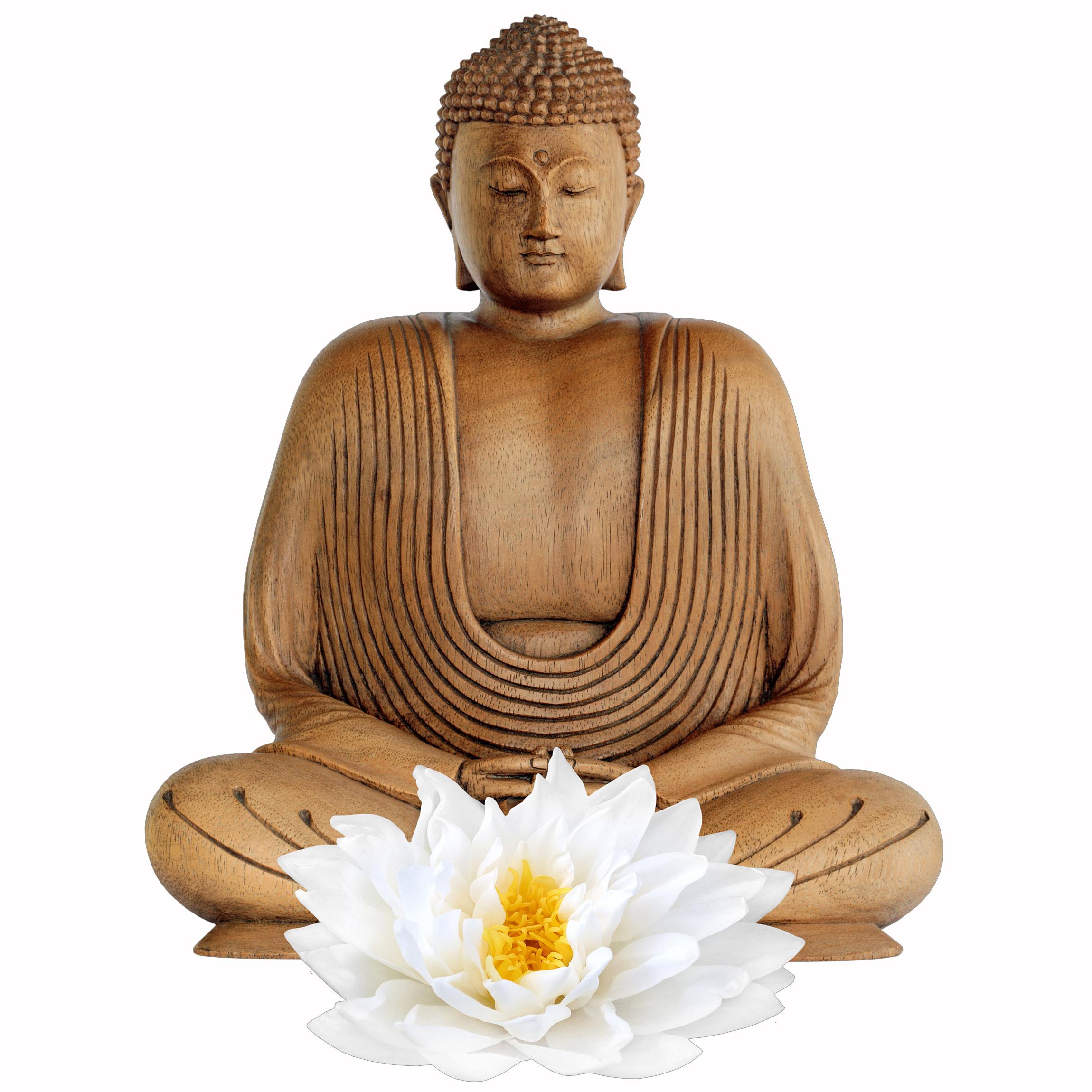 Wandtattoo lotus holz buddha - Wandtattoo buddha ...