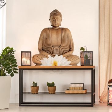 Product picture Wall Decal Wooden Lotus Buddha