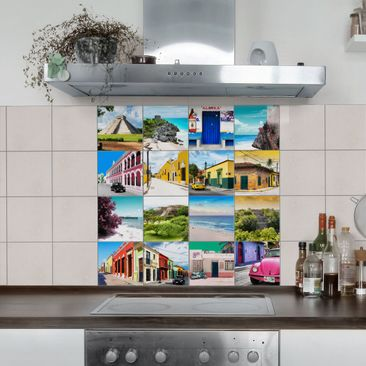Produktfoto Fliesenaufkleber - Viva Mexiko 10cm x 10cm - Fliesensticker Set