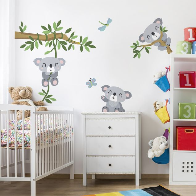 wandtattoo kinderzimmer koala set. Black Bedroom Furniture Sets. Home Design Ideas