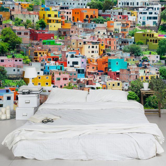Produktfoto Selbstklebende Tapete - Fototapete - Farbige Häuserfront Guanajuato