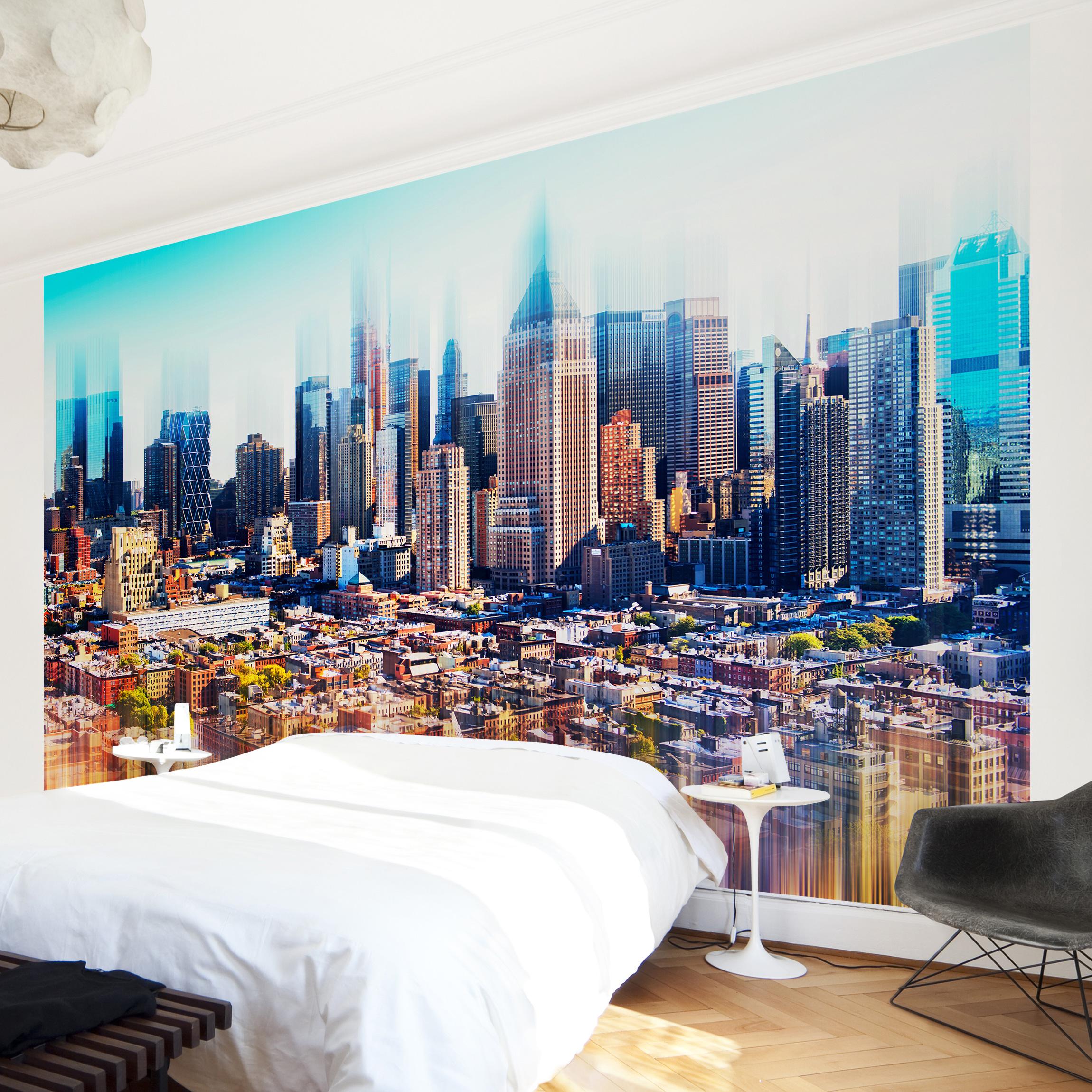 new york fototapete selbstklebend manhattan skyline urban stretch. Black Bedroom Furniture Sets. Home Design Ideas