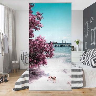 Produktfoto Raumteiler - Paradies Strand Isla Mujeres 250x120cm
