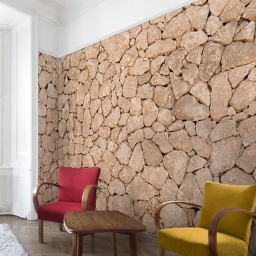 Product picture Photo Wall Mural Apulia Stone Wall - Old...