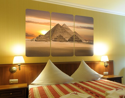 Produktfoto Selbstklebendes Wandbild Dream of Egypt Triptychon
