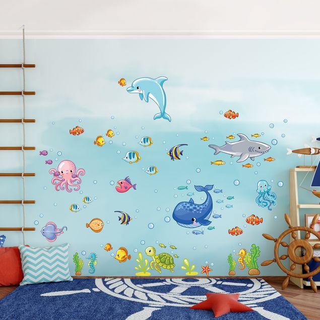 Produktfoto Wandtattoo Kinderzimmer Unterwasserwelt - Fisch Set