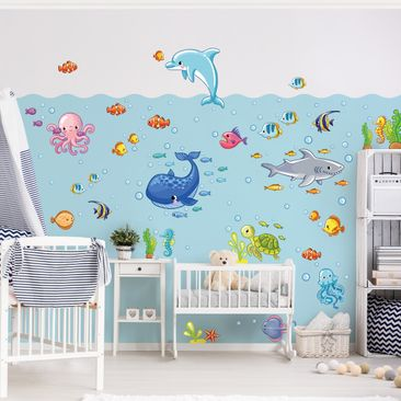 Produktfoto Wall Decal Underwater World - Fish Set