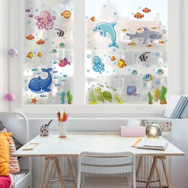 Product picture Window Sticker Underwater World - Fish...