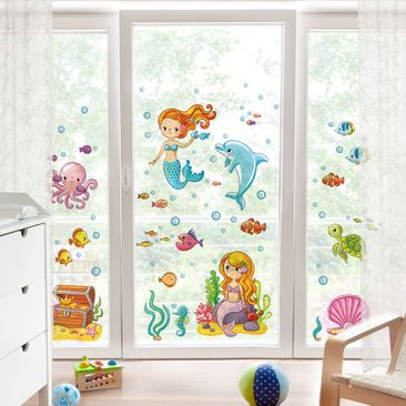 Product picture Window Sticker Mermaid - Underwater...