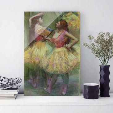 Produktfoto Glasbild - Kunstdruck Edgar Degas - Zwei Tänzerinnen bevor sie auf die Bühne gehen - Impressionismus Hoch 3:2
