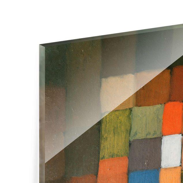 Produktfoto Glasbild - Kunstdruck Paul Klee - Statisch-Dynamische Steigerung - Expressionismus Hoch 3:2