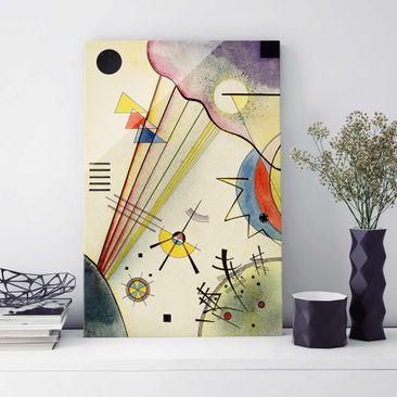 Produktfoto Glasbild - Kunstdruck Wassily Kandinsky - Deutliche Verbindung - Expressionismus Hoch 3:2