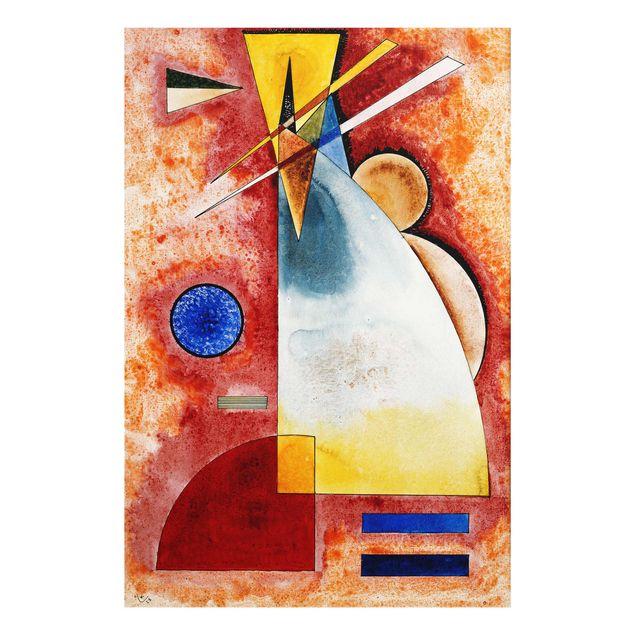 Produktfoto Glasbild - Kunstdruck Wassily Kandinsky - Ineinander - Expressionismus Hoch 3:2