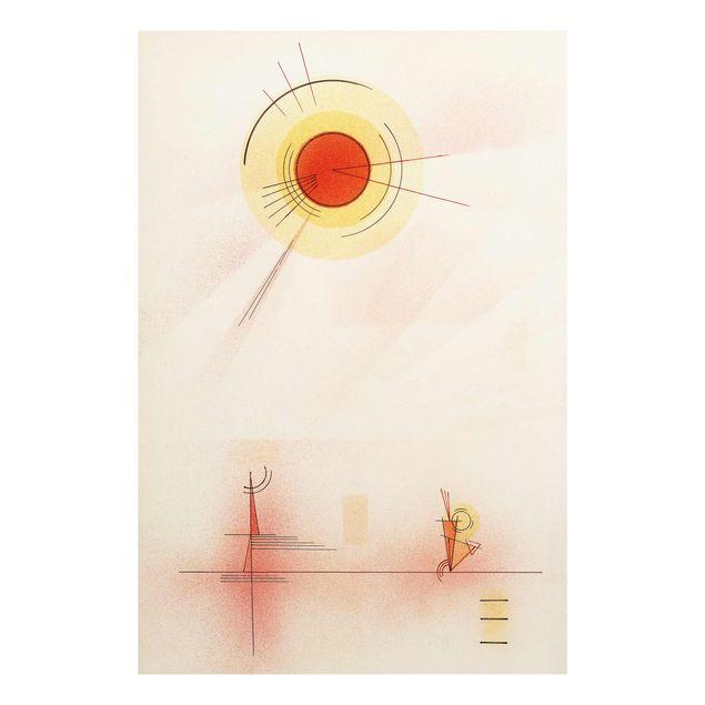 Produktfoto Glasbild - Kunstdruck Wassily Kandinsky - Strahlen - Expressionismus Hoch 3:2
