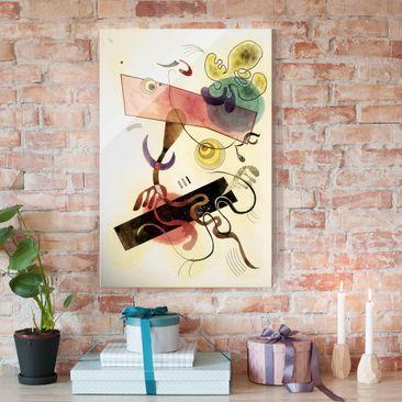 Produktfoto Glasbild - Kunstdruck Wassily Kandinsky - Taches: Verte et Rose (Flecken: Grün und Rosa) - Expressionismus Hoch 3:2