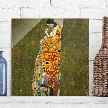 Product picture Print on Glass - Gustav Klimt - Hope -...