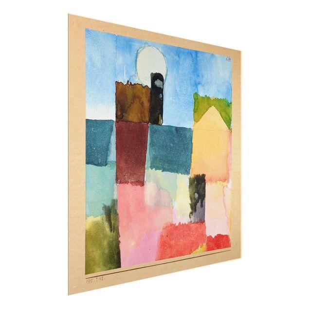 Produktfoto Glasbild - Kunstdruck Paul Klee - Mondaufgang (St. Germain) - Expressionismus Quadrat 1:1