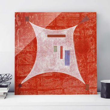 Immagine del prodotto Quadro su vetro - Wassily Kandinsky - Nei quattro Angoli - Espressionismo - Quadrato 1:1