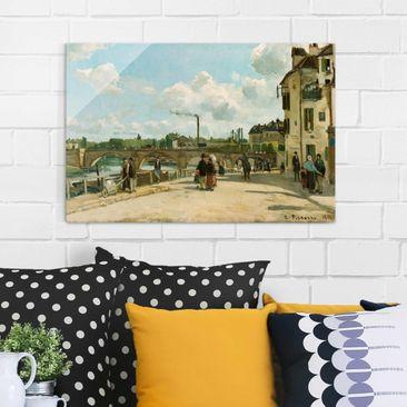 Produktfoto Glasbild - Kunstdruck Camille Pissarro - Ansicht von Pontoise - Impressionismus Quer 2:3