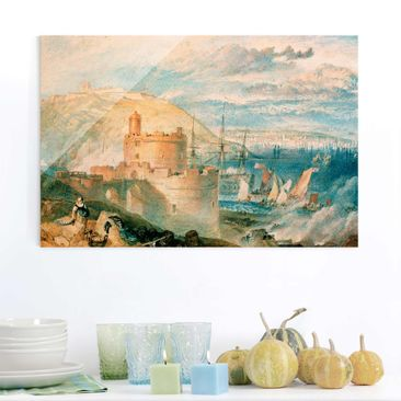 Produktfoto Glasbild - Kunstdruck William Turner - Falmouth - Romantik Quer 2:3