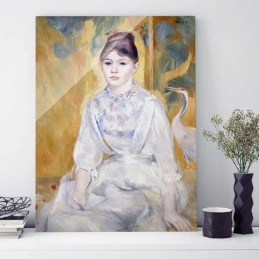Immagine del prodotto Quadro su vetro - Auguste Renoir - Giovane ragazza con un cigno - Impressionismo - Verticale 4:3
