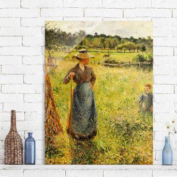 Immagine del prodotto Stampa su vetro - Camille Pissarro - La Raccolta del Fieno - Impressionismo - Verticale 4:3