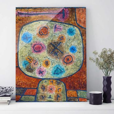 Product picture Print on Glass - Paul Klee - Flowers in...