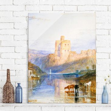 Produktfoto Glasbild - Kunstdruck William Turner - Norham Castle - Romantik Hoch 4:3