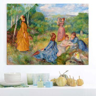 Immagine del prodotto Quadro in vetro - Auguste Renoir - Ragazze che giocano Badminton - Impressionismo - Orizzontale 3:4