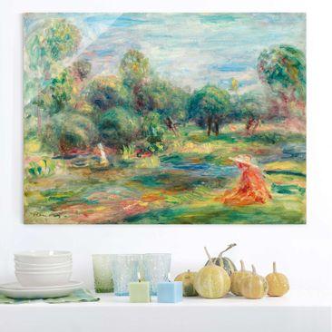 Immagine del prodotto Quadro in vetro - Auguste Renoir - Paesaggio a Cagnes - Impressionismo - Orizzontale 3:4