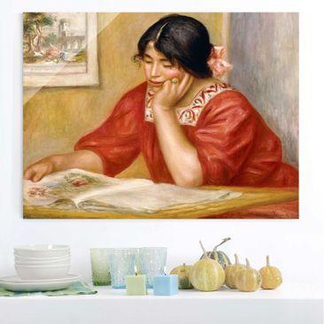 Immagine del prodotto Stampa su vetro - Auguste Renoir - Lettura Leontine - Impressionismo - Orizzontale 3:4