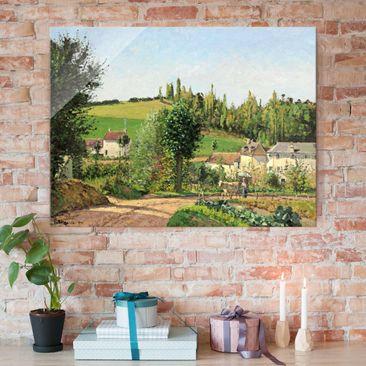 Immagine del prodotto Stampa su vetro - Camille Pissarro - Piccolo Villaggio nei pressi di Pontoise - Impressionismo - Orizzontale 3:4