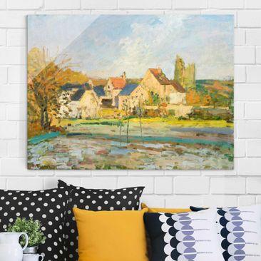 Produktfoto Glasbild - Kunstdruck Camille Pissarro - Landschaft bei Pontoise - Impressionismus Quer 3:4