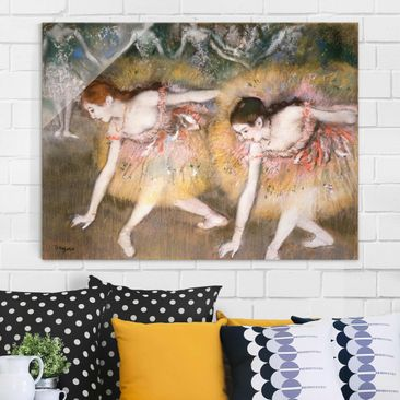 Product picture Print on Glass - Edgar Degas - Dancers...