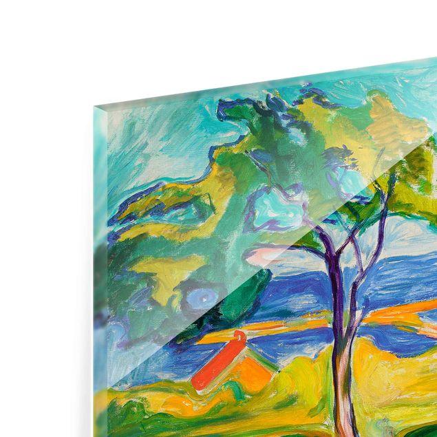 Immagine del prodotto Quadro in vetro - Edvard Munch - Il Giardino in Åsgårdstrand - Espressionismo - Orizzontale 3:4