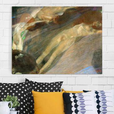 Produktfoto Glasbild - Kunstdruck Gustav Klimt - Bewegtes Wasser - Jugendstil Quer 3:4