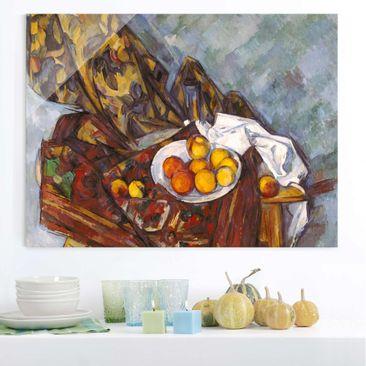Immagine del prodotto Stampa su vetro - Paul Cézanne - Nature morte, Tenda Fiore e Frutta - Impressionismo - Orizzontale 3:4