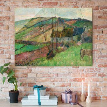 Immagine del prodotto Stampa su vetro - Paul Gauguin - Case nel Fianco della Montagne Sainte-Marguerite - Post-Impressionismo - Orizzontale 3:4
