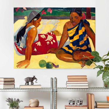 Produktfoto Glasbild - Kunstdruck Paul Gauguin -...