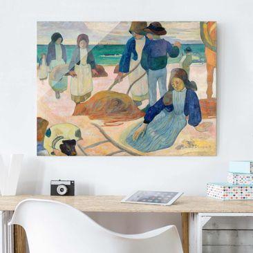 Produktfoto Glasbild - Kunstdruck Paul Gauguin - Bretonische Tangsammlerinnen (II) - Post-Impressionismus Quer 3:4