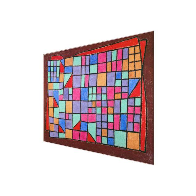Produktfoto Glasbild - Kunstdruck Paul Klee - Glas-Fassade - Expressionismus Quer 3:4