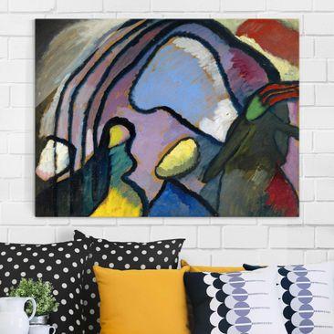 Produktfoto Glasbild - Kunstdruck Wassily Kandinsky - Studie für Improvisation 10 - Expressionismus Quer 3:4