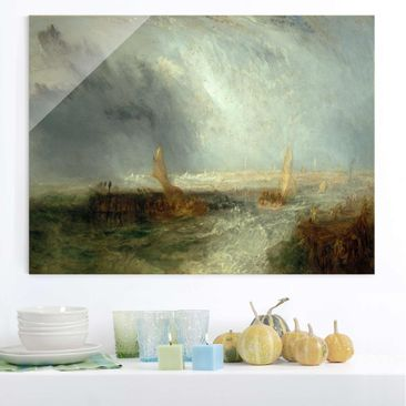 Produktfoto Glasbild - Kunstdruck William Turner - Ostende - Romantik Quer 3:4