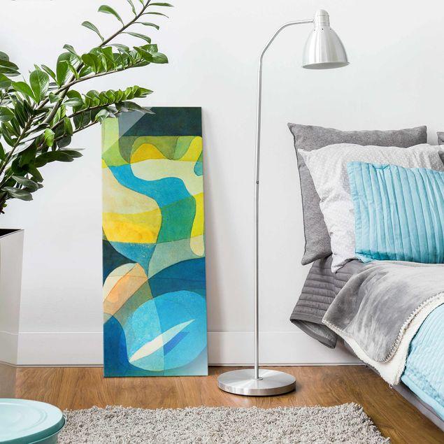 Produktfoto Glasbild - Kunstdruck Paul Klee - Lichtbreitung - Expressionismus Panorama Hoch