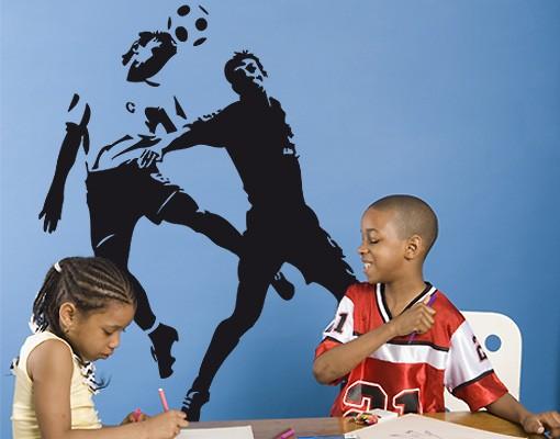 Produktfoto Wandtattoo Fußball - Kinderzimmer No.UL41 Kopfballduell