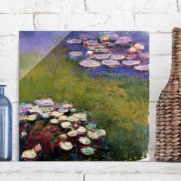 Produktfoto Glasbild - Kunstdruck Claude Monet - Seerosen - Impressionismus Quadrat 1:1