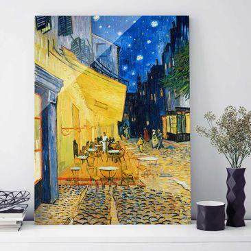 Produktfoto Glasbild - Kunstdruck Vincent van Gogh - Café-Terrasse am Abend in Arles - Post-Impressionismus Hoch 4:3