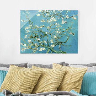 Produktfoto Glasbild - Kunstdruck Vincent van Gogh - Mandelblüte - Post-Impressionismus Quer 3:4