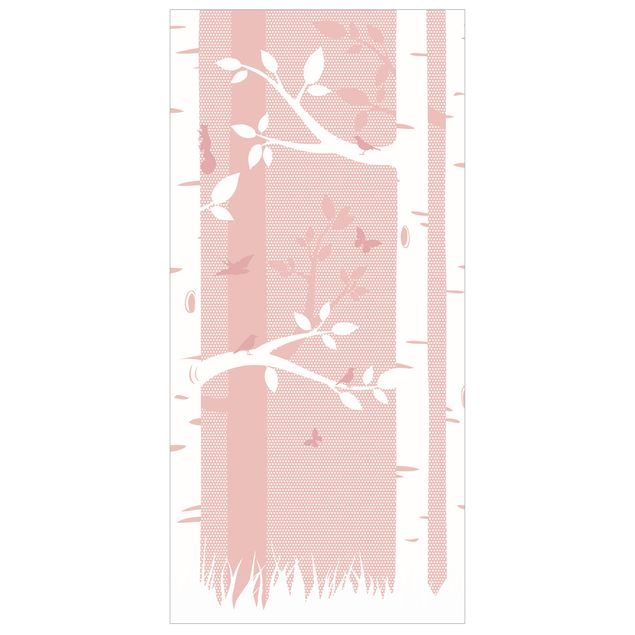 Immagine del prodotto Tenda a pannello pink birches with butterflies and birds 250x120cm